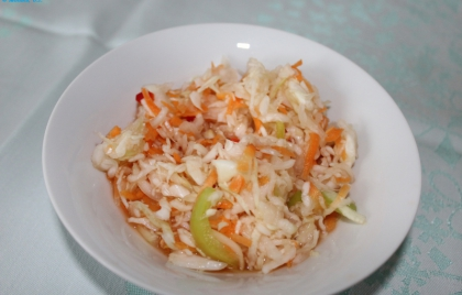 Robenie zeleninového šalátu