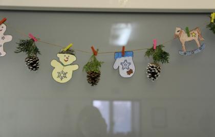 Výroba vianočnej girlandy