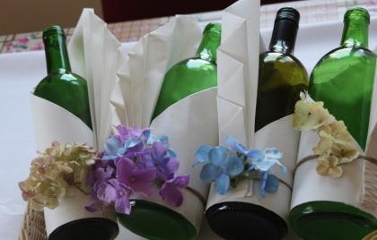 Výroba dekorácií na fľaše