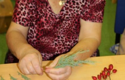 Výroba jesenných dekorácii